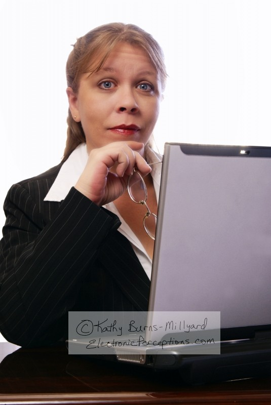 executive Stock Photo: Professional Woman Raises Eyebrows