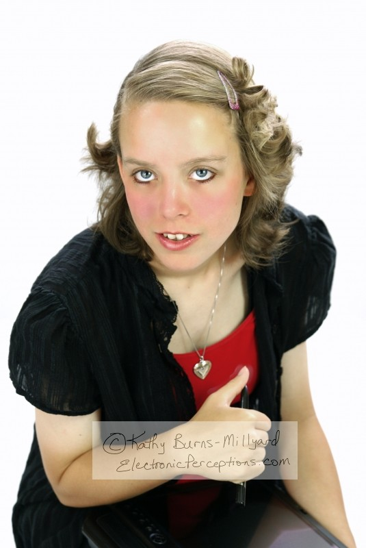 Stock Photo: Pretty Young Woman - by Kathy Burns-Millyard