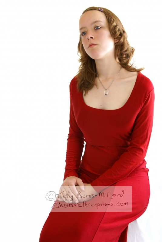 beautiful Stock Photo: Pretty Girl In Red