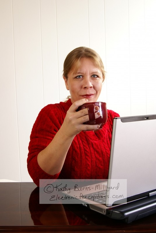 mug Stock Photo: Woman Working