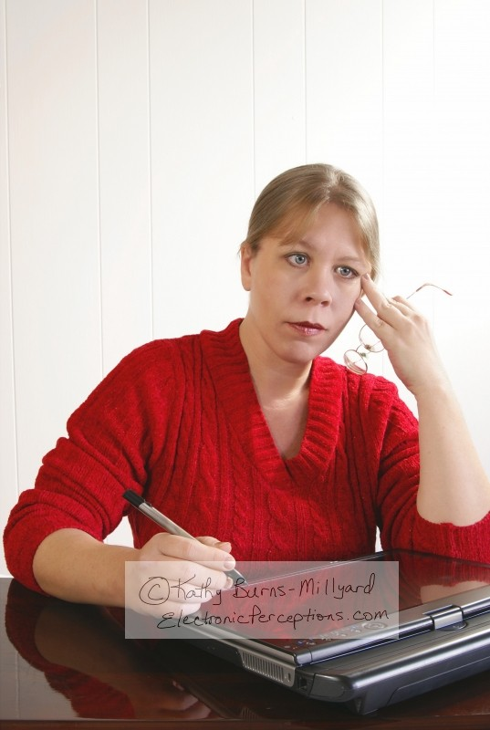 female Stock Photo: Lost in Thought