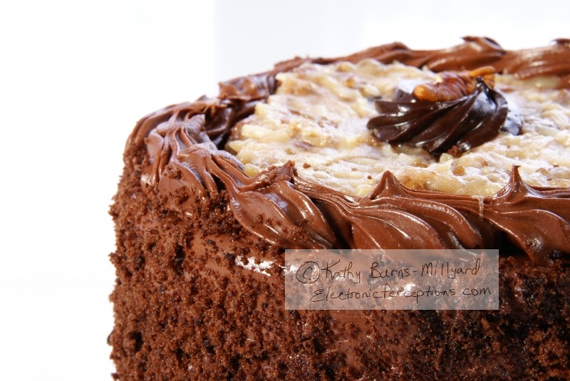 calories Stock Photo: Chocolate Cake