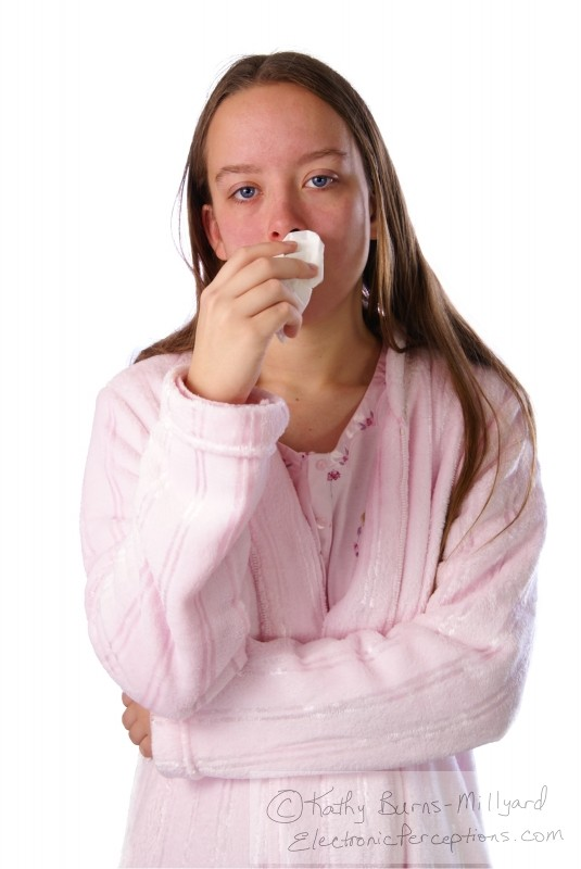 cold Stock Photo: Sick Girl