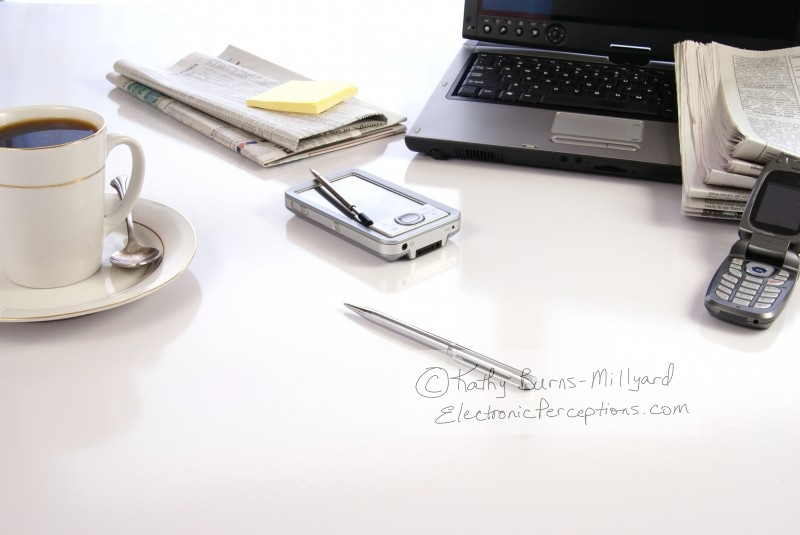 Stock Photo: Office Desk - by Kathy Burns-Millyard