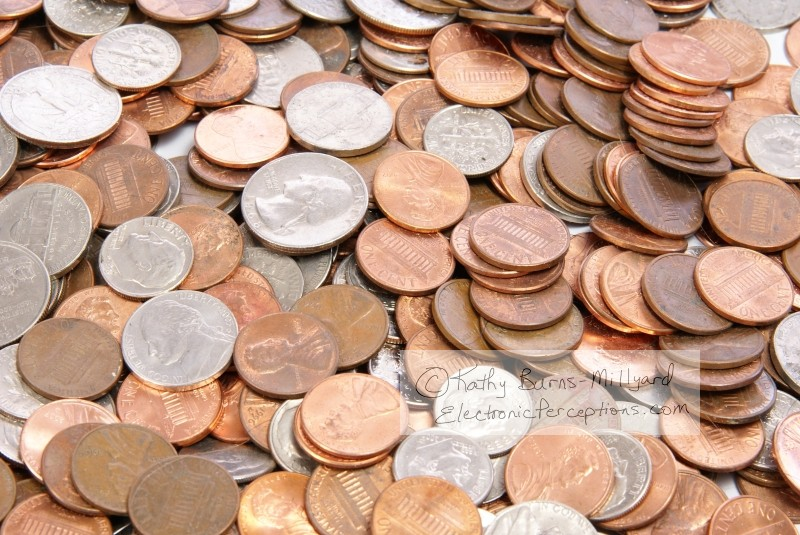 Stock Photo: Coins - by Kathy Burns-Millyard