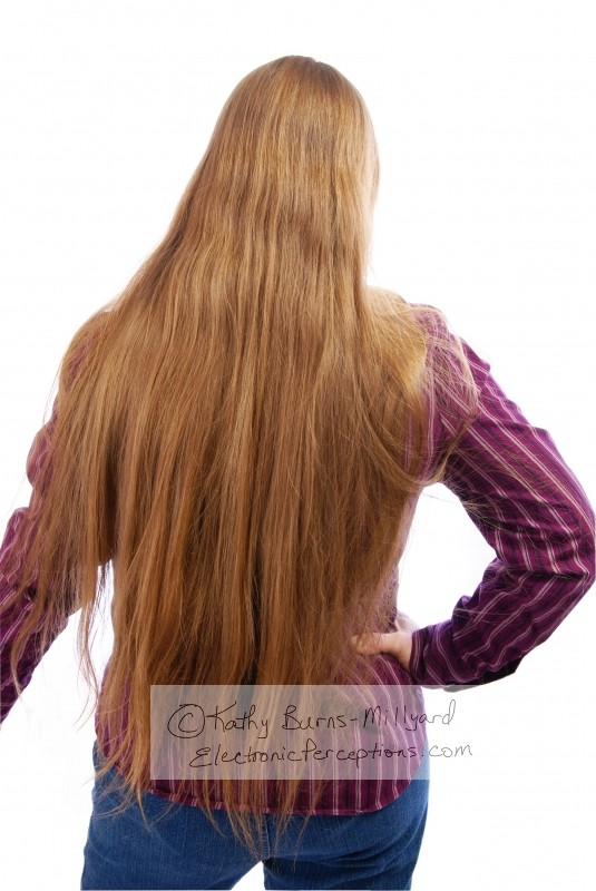 Stock Photo: Extra Long Hair - by Kathy Burns-Millyard