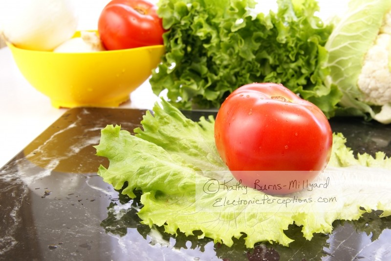 black marble Stock Photo: Fresh Vegetables