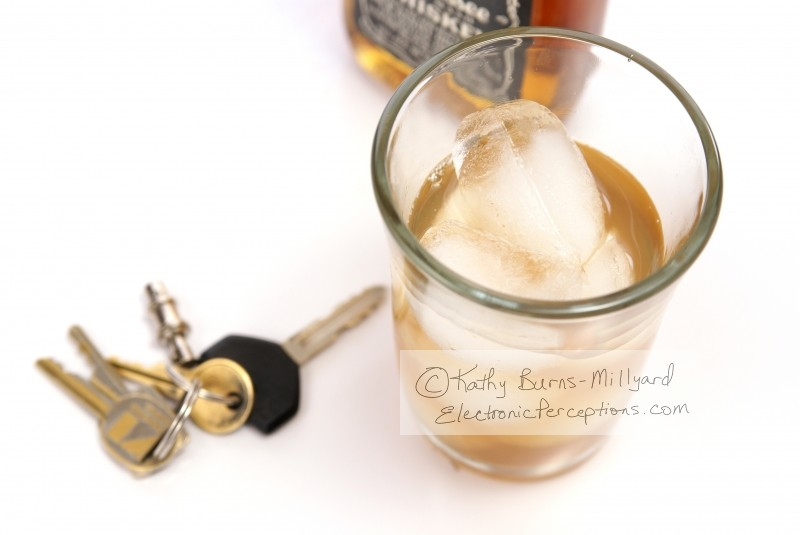 addiction Stock Photo: Drinking and Driving