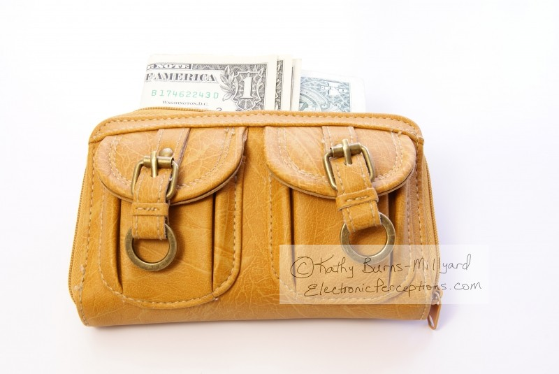 cowhide Stock Photo: Woman's Wallet