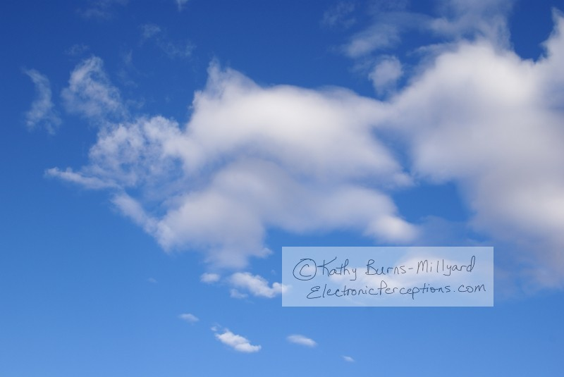 Stock Photo: Blue Sky & Clouds - by Kathy Burns-Millyard
