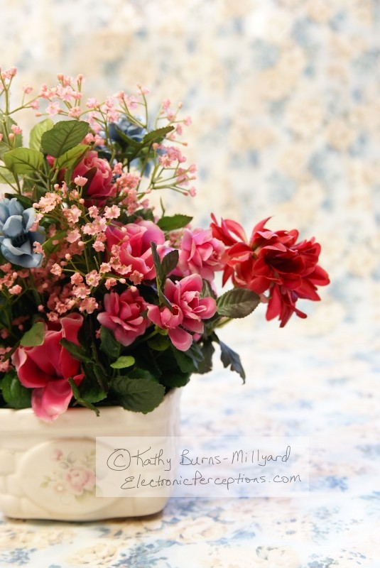 Stock Photo: Silk Flowers - by Kathy Burns-Millyard