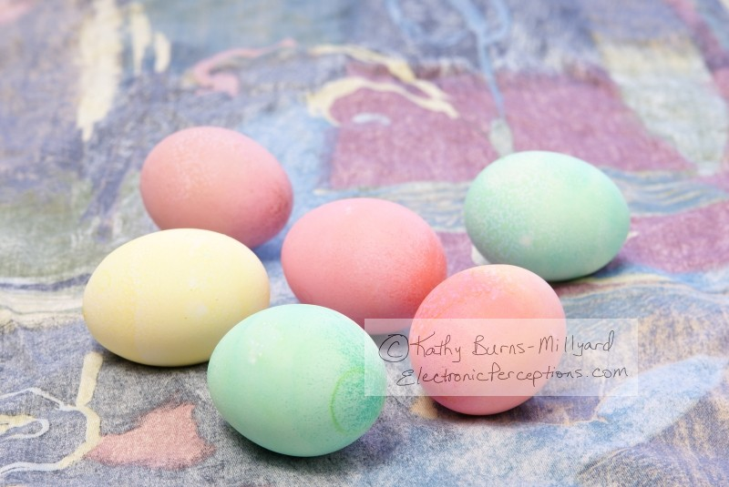 Stock Photo: Colorful Easter Eggs - by Kathy Burns-Millyard