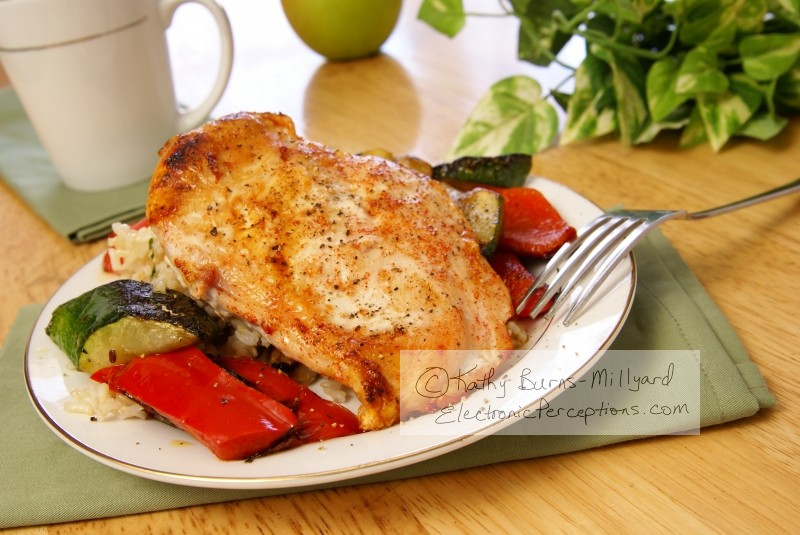 cayenne Stock Photo: Broiled Pepper Chicken