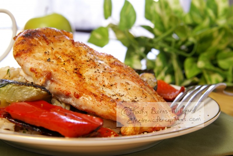 cracked Stock Photo: Broiled Pepper Chicken