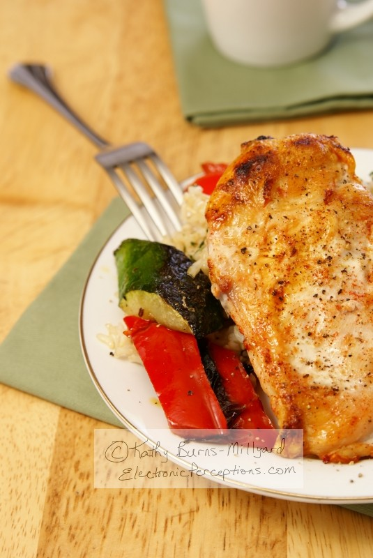Stock Photo: Broiled Pepper Chicken - by Kathy Burns-Millyard