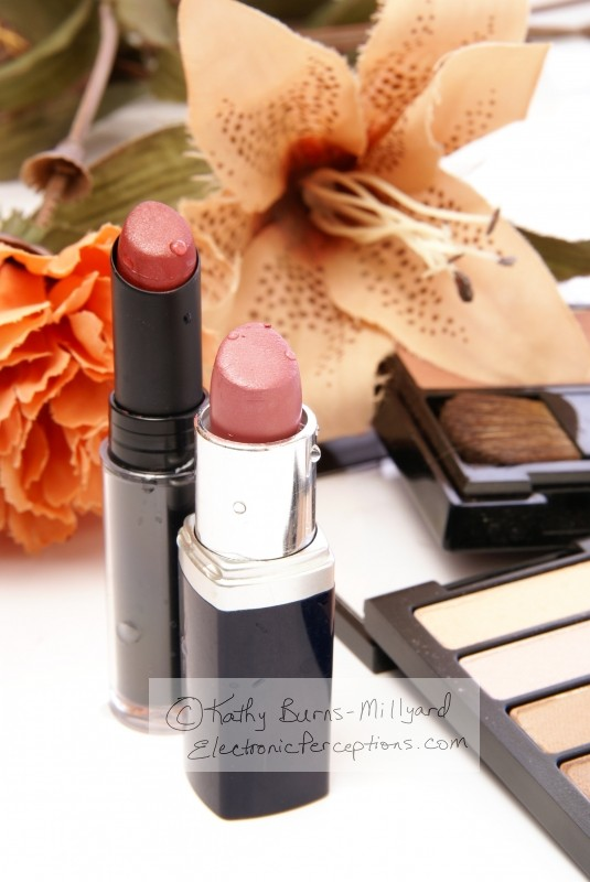 Stock Photo: Lipstick and Flowers - by Kathy Burns-Millyard