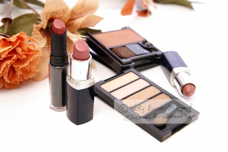 Still Life Stock Photo: Cosmetics and Flowers