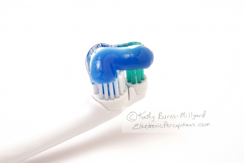 Stock Photo: Toothbrush and Paste - by Kathy Burns-Millyard