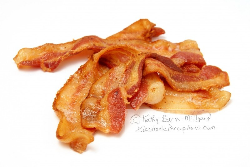 Stock Photo: Cooked Bacon - by Kathy Burns-Millyard