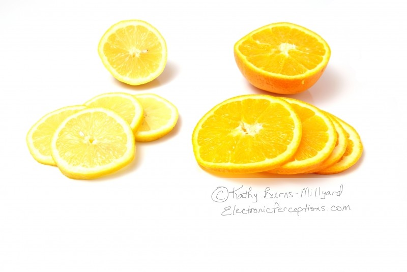 Stock Photo: Lemons and Oranges - by Kathy Burns-Millyard