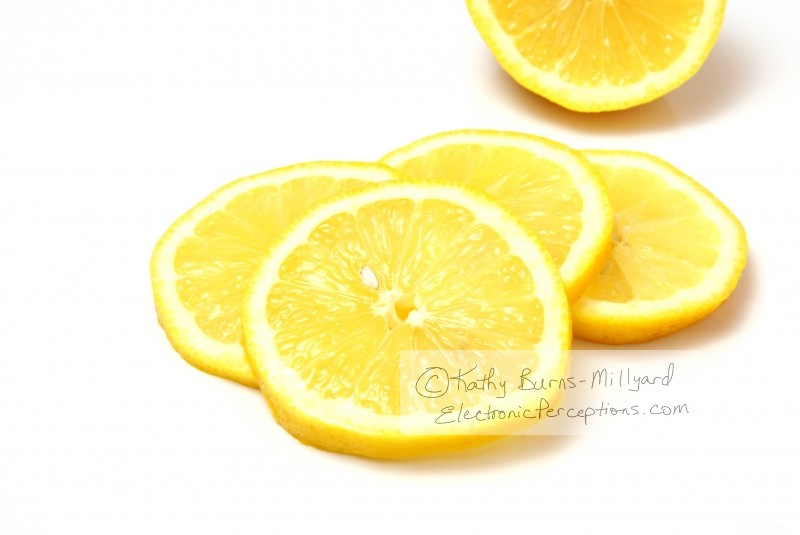 Health Stock Photo: Lemon Slices