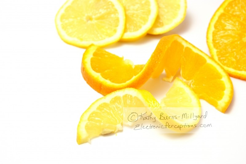 Health Stock Photo: Citrus Twists