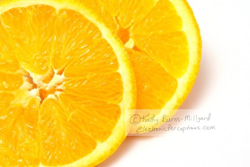 Stock Photo: Orange Slices - by Kathy Burns-Millyard