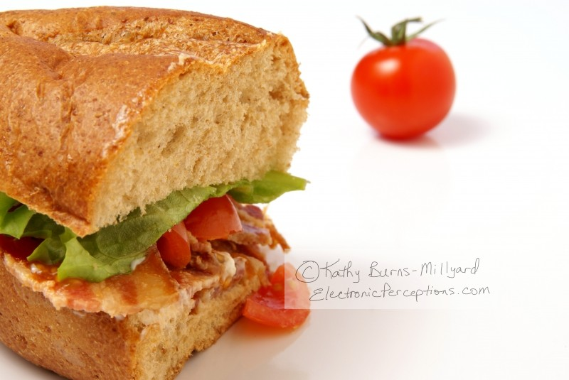 bread Stock Photo: Bacon Sandwich