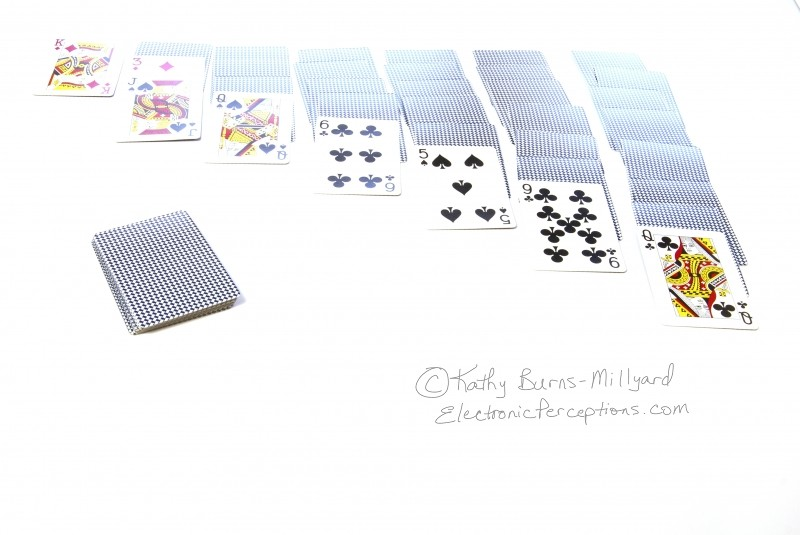 Stock Photo: Solitaire Game - by Kathy Burns-Millyard