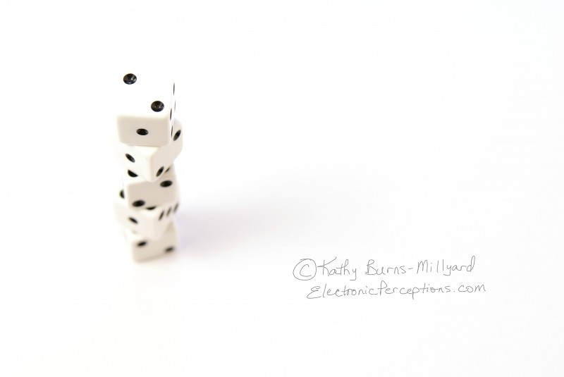 Stock Photo: Stack of Dice - by Kathy Burns-Millyard