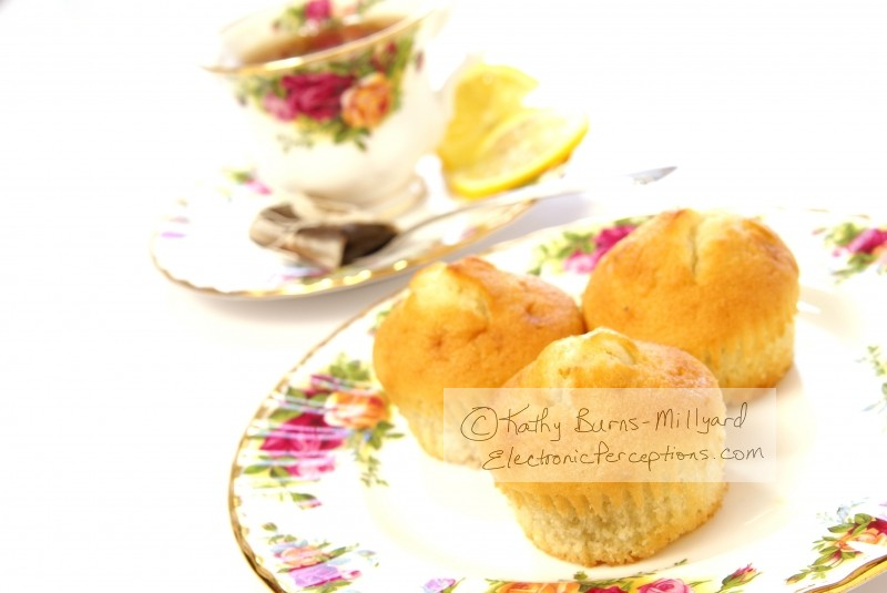 delicate Stock Photo: Three Muffins