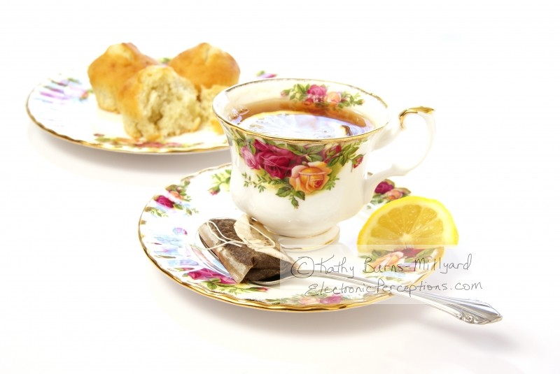 delicate Stock Photo: Lemon Tea