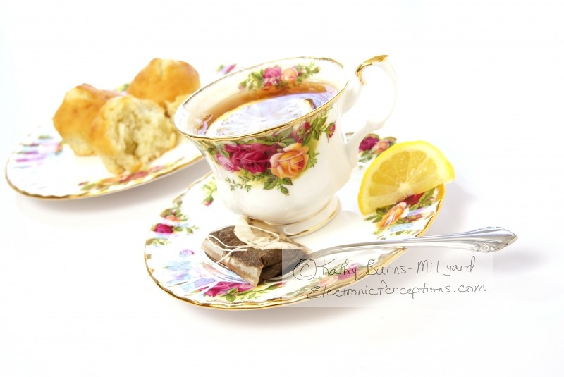 Stock Photo: Lemon Tea Angled - by Kathy Burns-Millyard