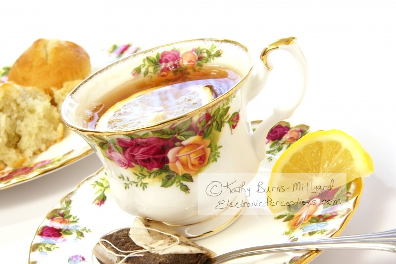 delicate Stock Photo: Lemon Tea Close Up