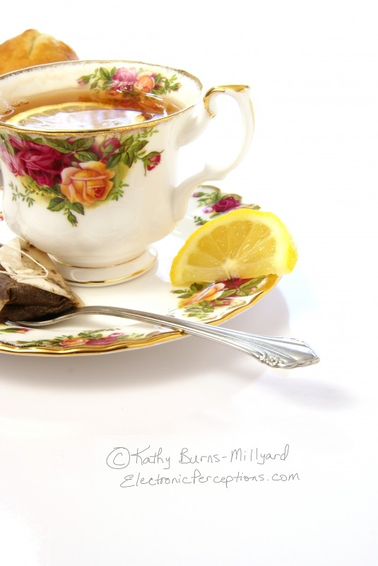 flower Stock Photo: Tea and Lemon