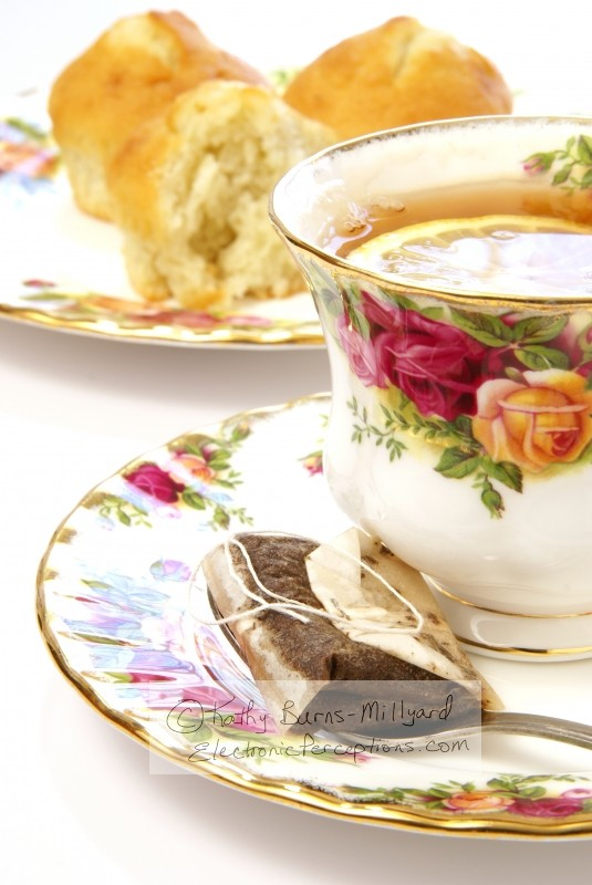fruit Stock Photo: Tea and Muffins