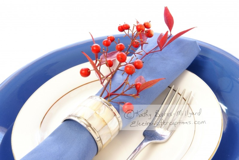 berry Stock Photo: Table Setting