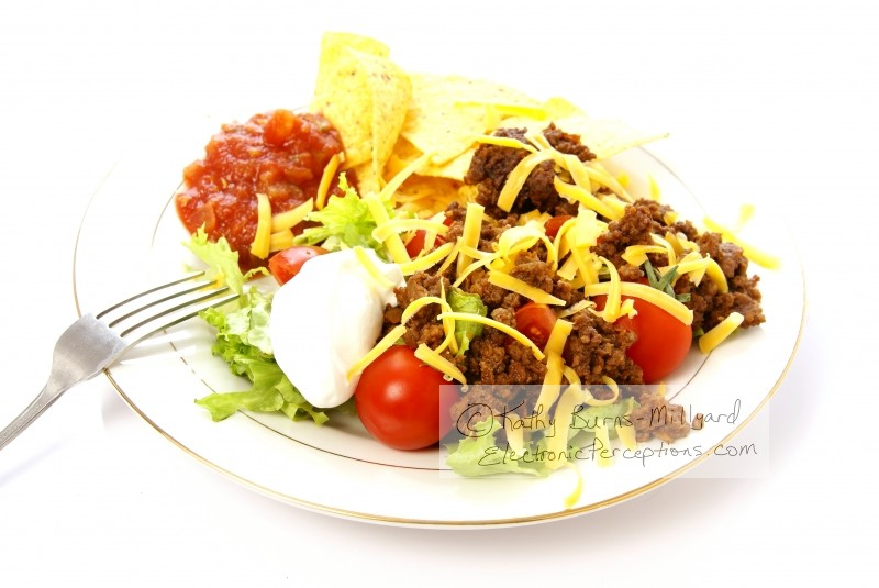 Stock Photo: Taco Salad - by Kathy Burns-Millyard