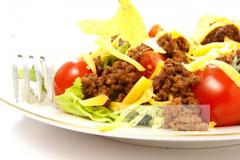 chips Stock Photo: Taco Salad Close Up