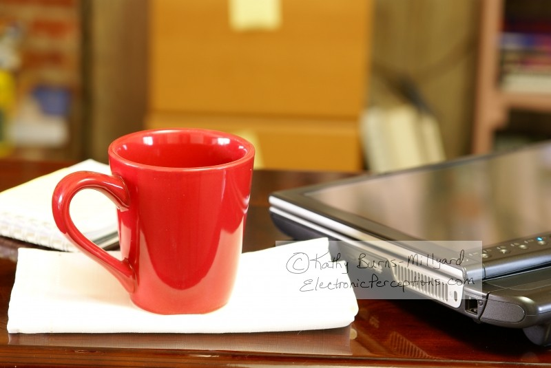corner Stock Photo: Tablet PC and Coffee