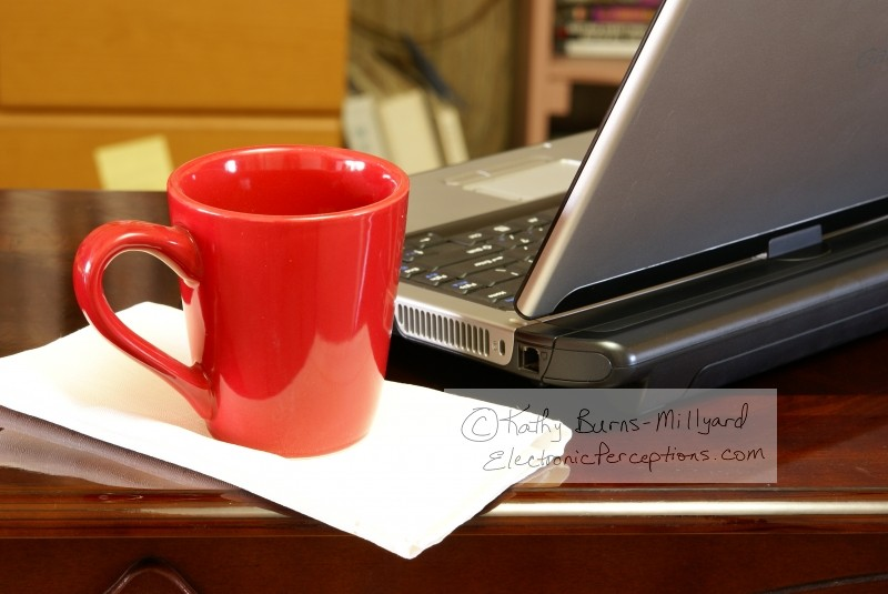 Stock Photo: Laptop and Coffee - by Kathy Burns-Millyard