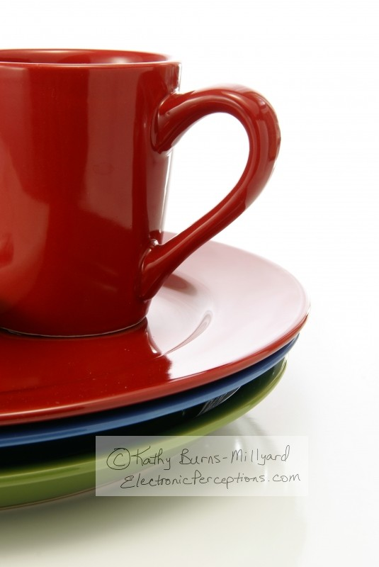 decorate Stock Photo: Red Coffee Mug