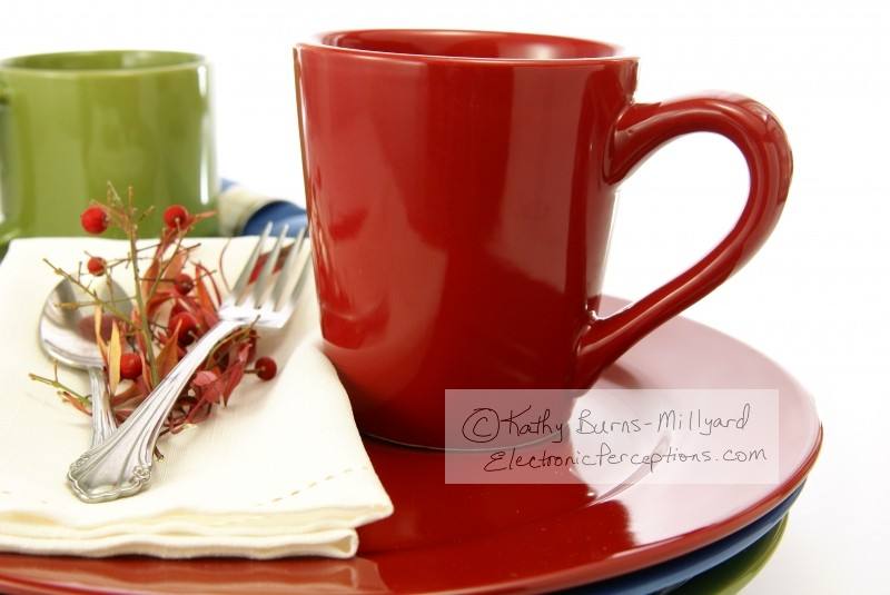 elegant Stock Photo: Red Coffee Mug