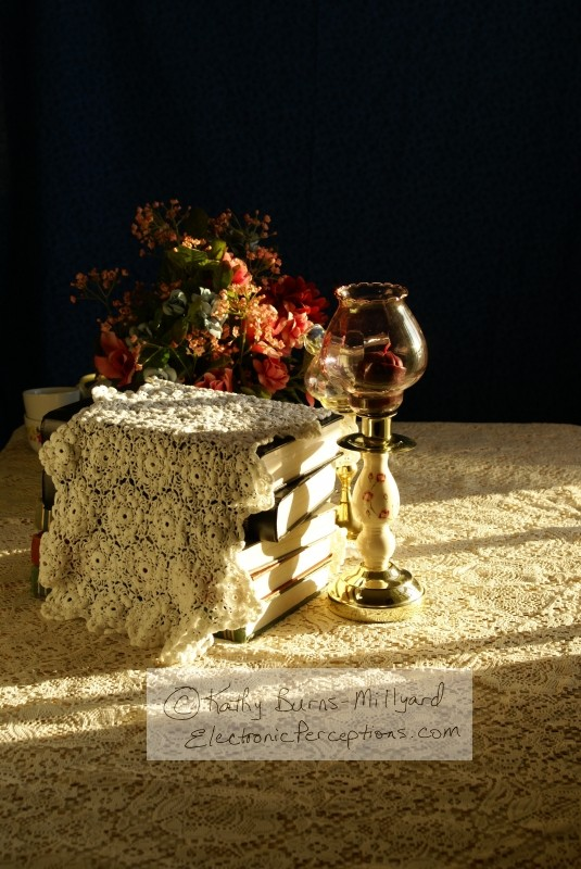 """crocheted lace"" Stock Photo: Home Decor"