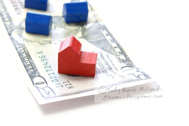 dollars Stock Photo: Housing Crisis