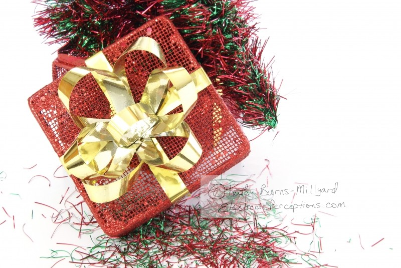 Stock Photo: Christmas Box - by Kathy Burns-Millyard
