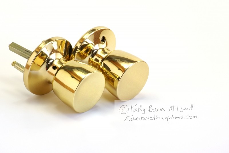 Stock Photo: Shiny Door Knobs - by Kathy Burns-Millyard