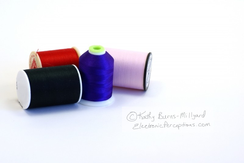 black Stock Photo: Spools of Thread