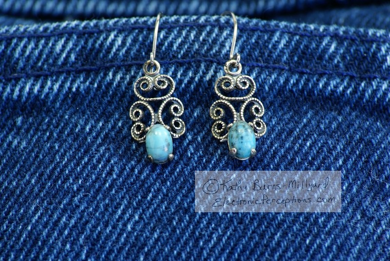 fabric Stock Photo: Turquoise Earrings