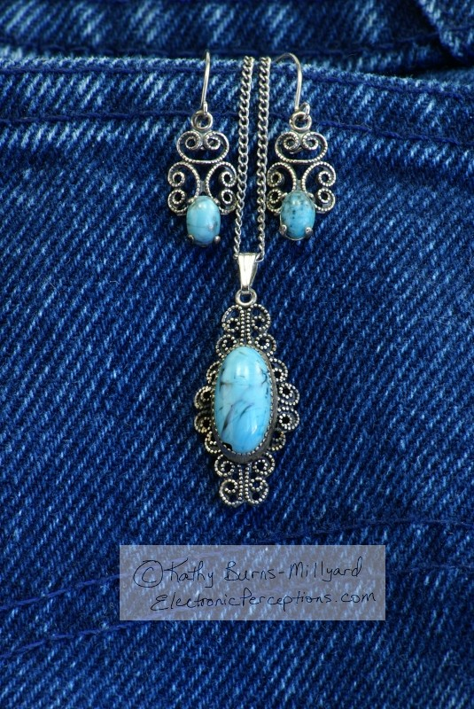 Stock Photo: Turquoise Jewelry - by Kathy Burns-Millyard